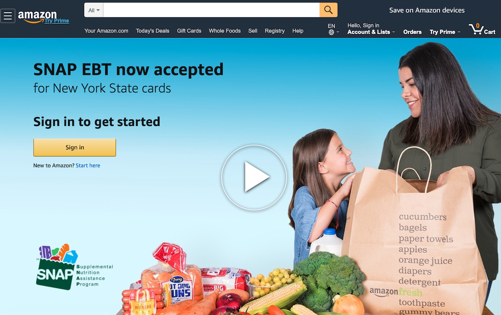 Featured image of New Yorkers can now buy groceries online with EBT food stamp (SNAP) benefits